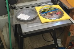 "Renting Out: Table Saw (includes 10"" steel blade)"