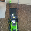 Renting Out:  brand new cordless lawn mower 40V 4AH battery